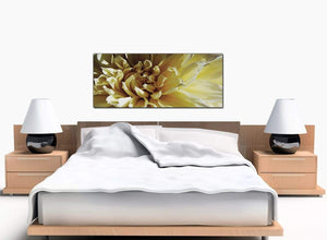 Floral Bedroom Cream Canvas Picture
