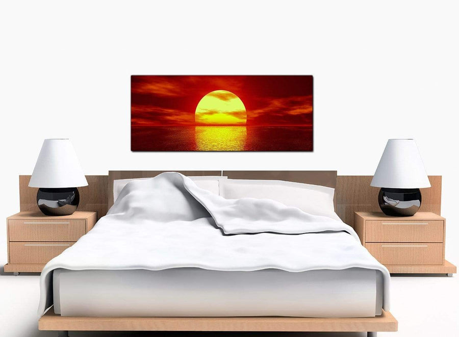 Sunset Large Red Canvas Wall Art