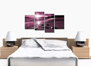4 Piece Set of Extra-Large Plum Canvas Prints