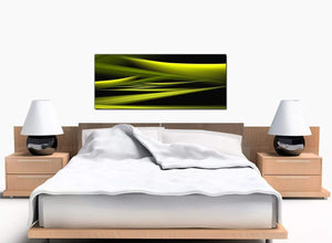 Abstract Bedroom Lime Green Canvas Pictures