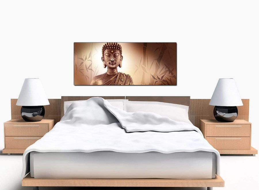Buddah Bedroom Brown Canvas Art