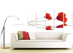Poppy Large Red Canvas Art