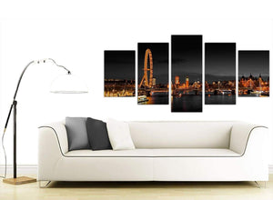 Extra Large 5 Piece City Canvas Art 5186
