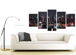 Extra Large 5 Piece Cityscape Canvas Art 5187