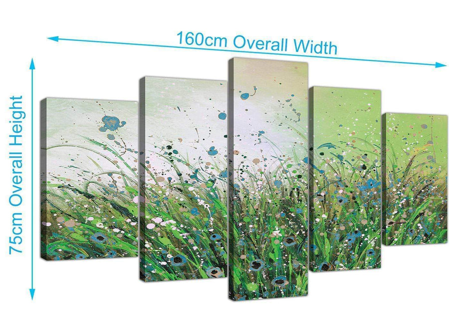 extra large floral canvas pictures green 5261