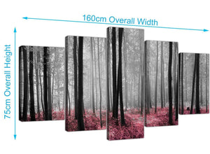 extra large forest woodland trees canvas prints uk black and white 5241