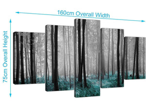 extra large forest woodland trees canvas prints uk black and white 5242