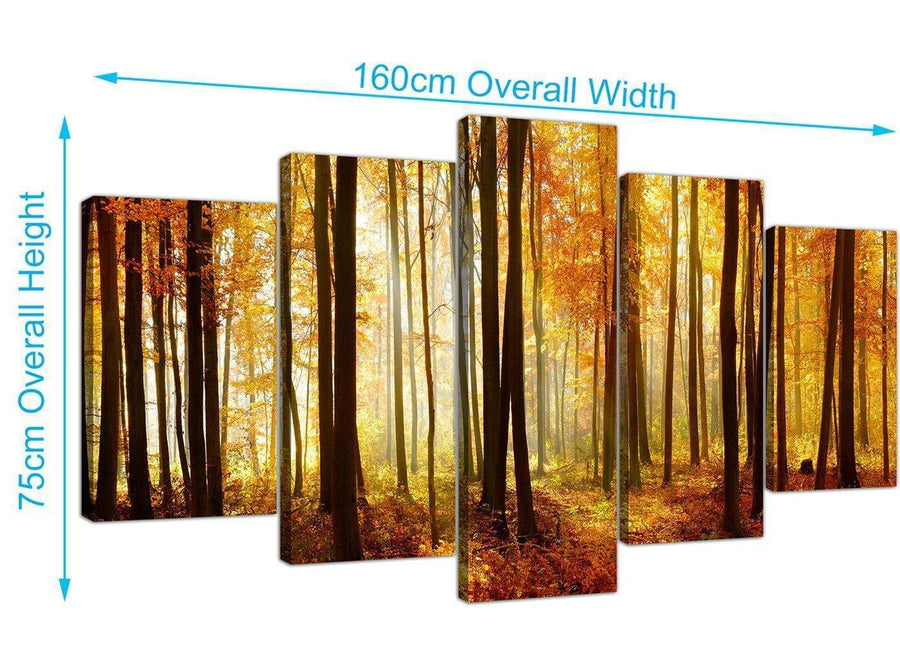 extra large forest woodland trees canvas prints uk black and white 5243