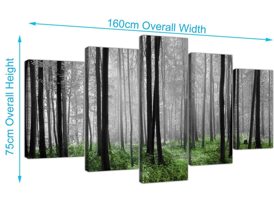 extra large forest woodland trees canvas wall art black and white 5239