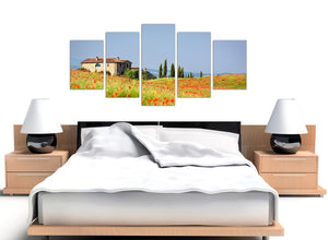 extra large green floral tuscan hills canvas prints 5233