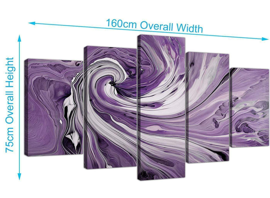 extra large purple and white spiral swirl canvas wall art purple 5270