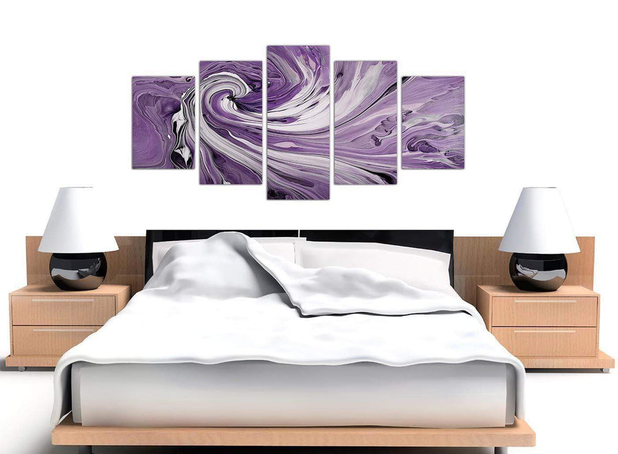 extra large purple purple and white spiral swirl canvas wall art 5270