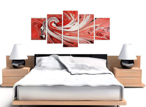 extra large red abstract swirl canvas wall art 5265
