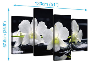 Set Of Four Modern Black White Canvas Picture