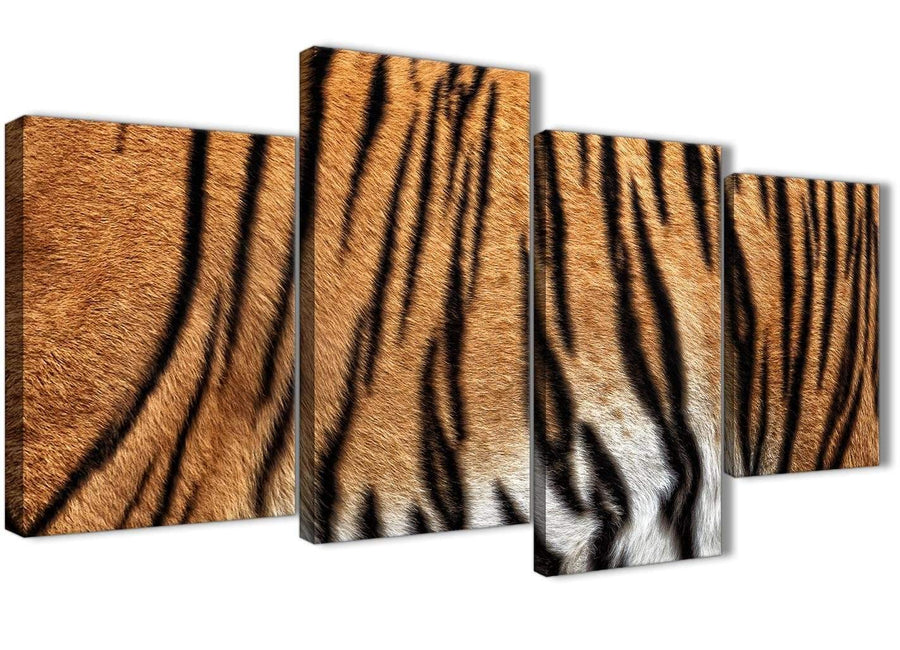 Extra Large Tiger Animal Print Canvas Wall Art - 4472 - 130cm Set of Pictures