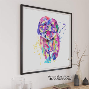 Shih Tzu Canvas Wall Art Print - Multicoloured
