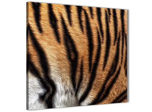 Framed Canvas Art Print Tiger Animal Print - 1s472m - 64cm Square Picture