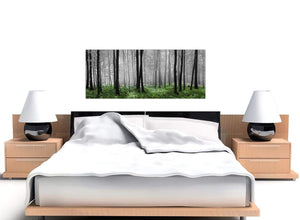 green black white forest canvas1239