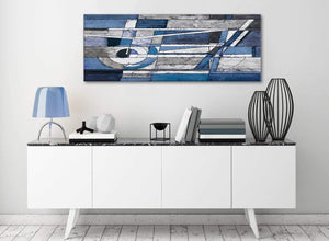 Indigo Blue White Painting Bedroom Canvas Wall Art Accessories - Abstract 1404 - 120cm Print