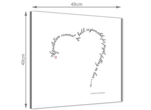 Inexpensive Canvas Prints Albert Einstein Love Quote - Word Art - 1s508s - 49cm Square Wall Art