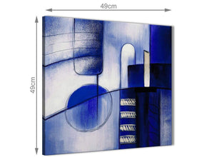 Blue Cream Abstract Painting Canvas Wall Art Wallfillers Co Uk