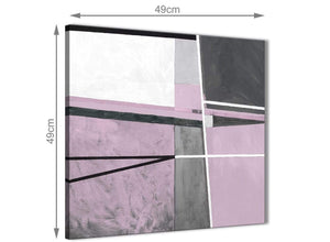 Inexpensive Lilac Grey Painting Kitchen Canvas Pictures Accessories - Abstract 1s395s - 49cm Square Print