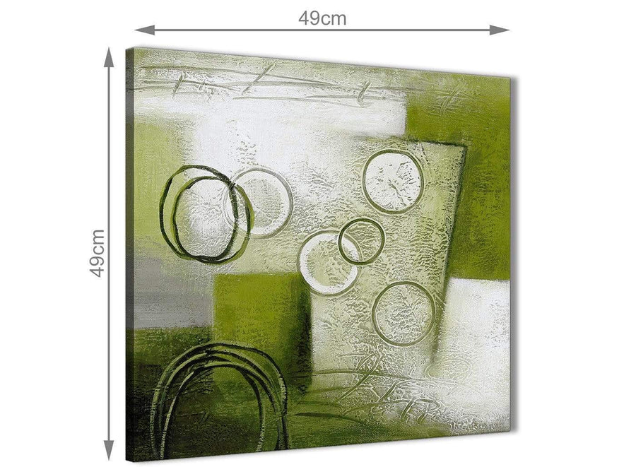 Inexpensive Lime Green Painting Kitchen Canvas Pictures Accessories - Abstract 1s434s - 49cm Square Print
