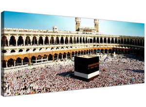 Modern Islamic Canvas Prints UK Black & White Panoramic 1191