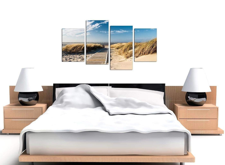 Large Set of 4 Seascape Canvas Art 4197