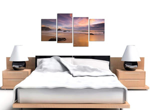 Cheap Set of 4 Seascape Canvas Wall Art 4198