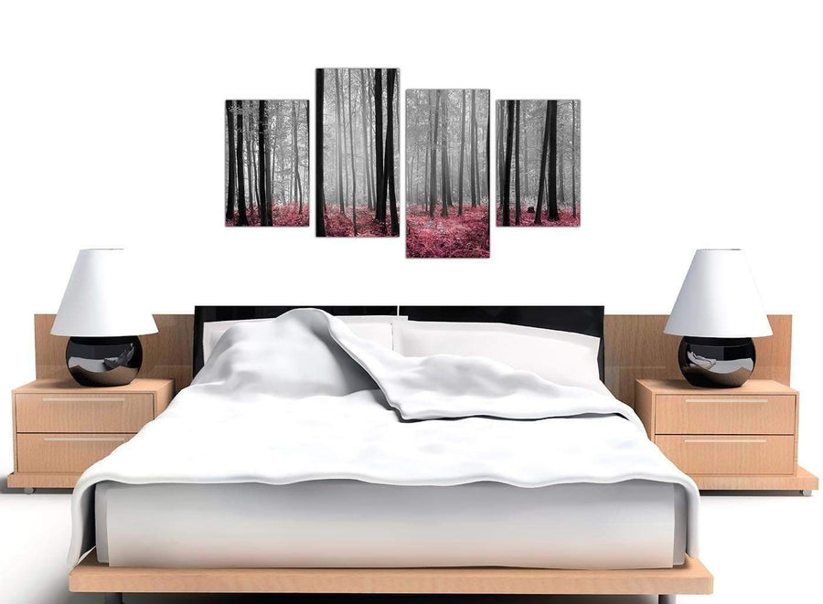 large black and white forest woodland trees canvas art 4241