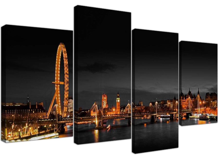 Large Canvas Art Office Landscape London Scene 130cm x 67cm 4186