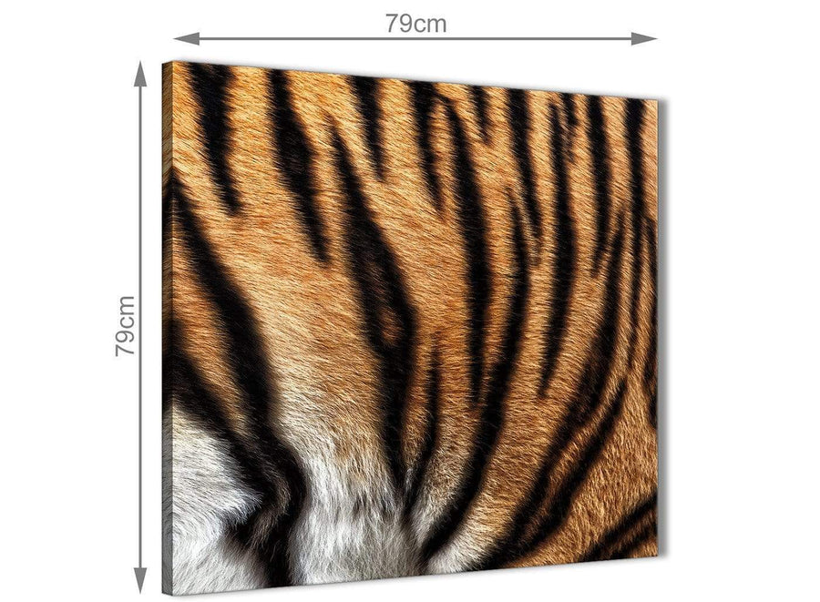 Large Canvas Wall Art Tiger Animal Print - 1s472l - 79cm XL Square Picture