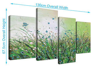 large floral canvas prints green 4261