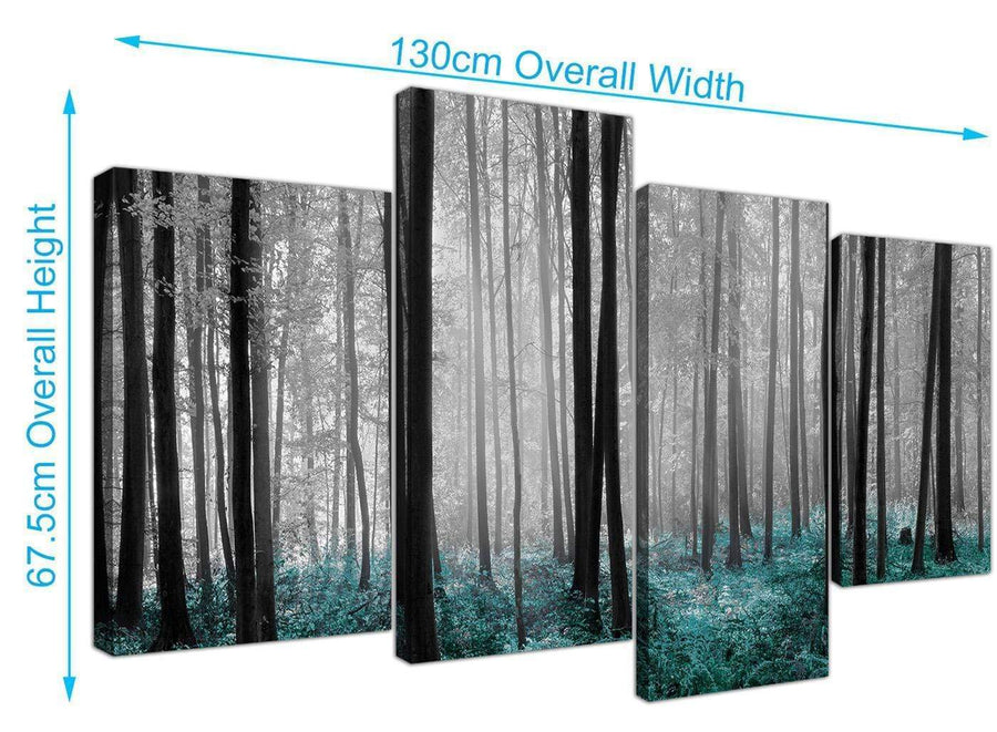 large forest woodland trees canvas prints black and white 4242