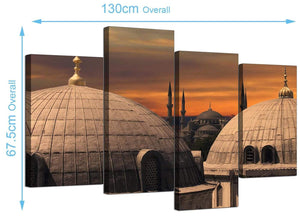 Cheap Istanbul & Blue Mosque Canvas Pictures 130cm x 68cm 4192