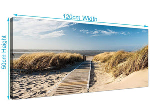Cheap Canvas Prints Beach Panoramic 1197