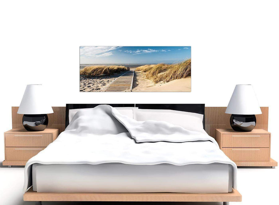 Large Canvas Art Blue Panoramic 1197