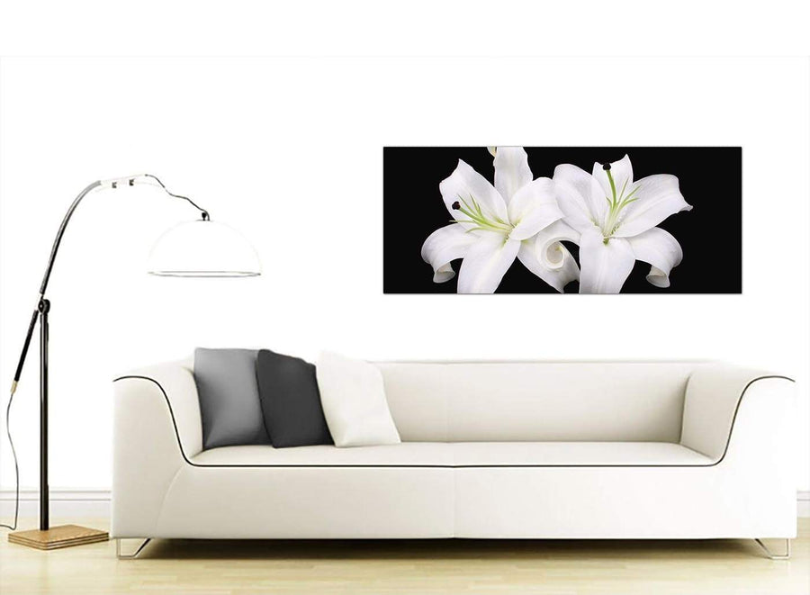 Trendy Floral Canvas Prints Panoramic 1128