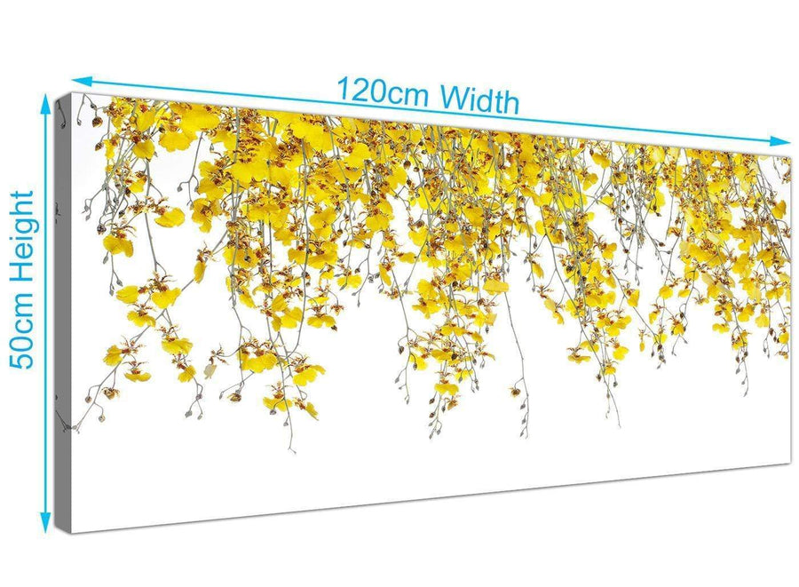 large panoramic orchids canvas art yellow 1263