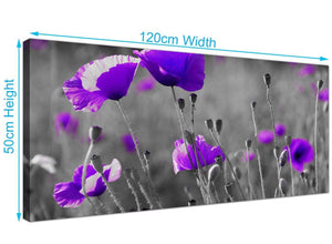 Modern Poppy Field Canvas Prints UK 120cm x 50cm 1136