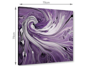 large panoramic purple and white spiral swirl canvas wall art purple 1s270l
