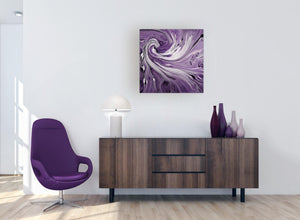 large panoramic purple purple and white spiral swirl canvas art 1s270m