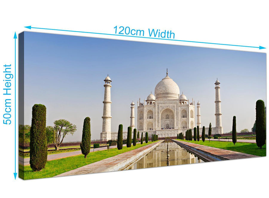 large panoramic taj mahal canvas prints uk natural 1203