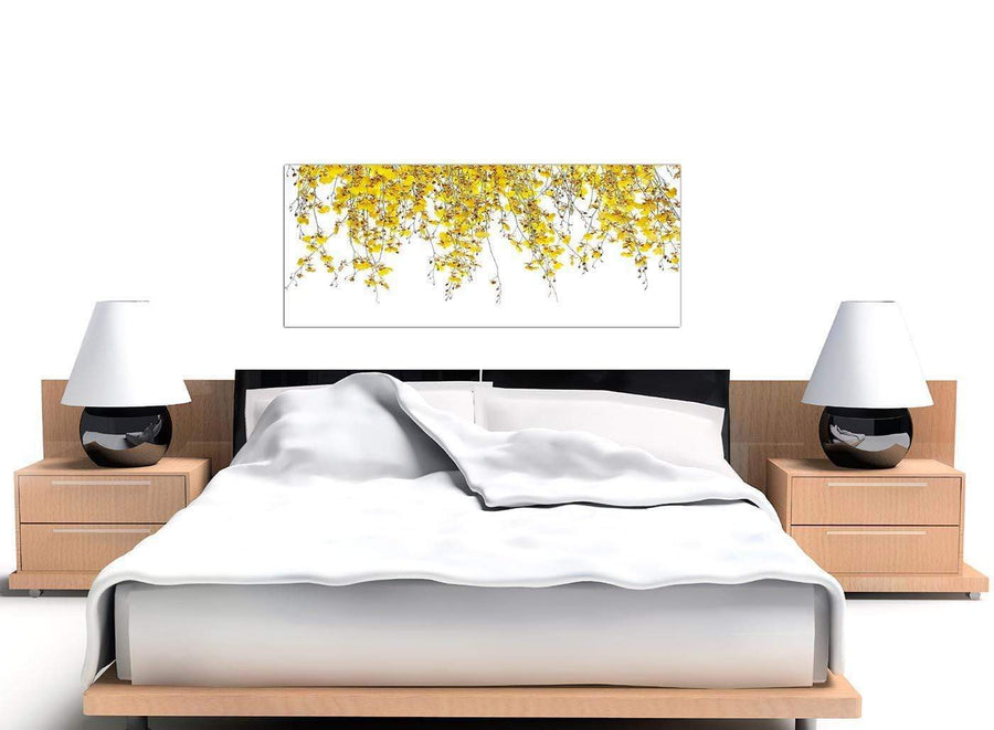 large panoramic yellow orchids canvas wall art 1263
