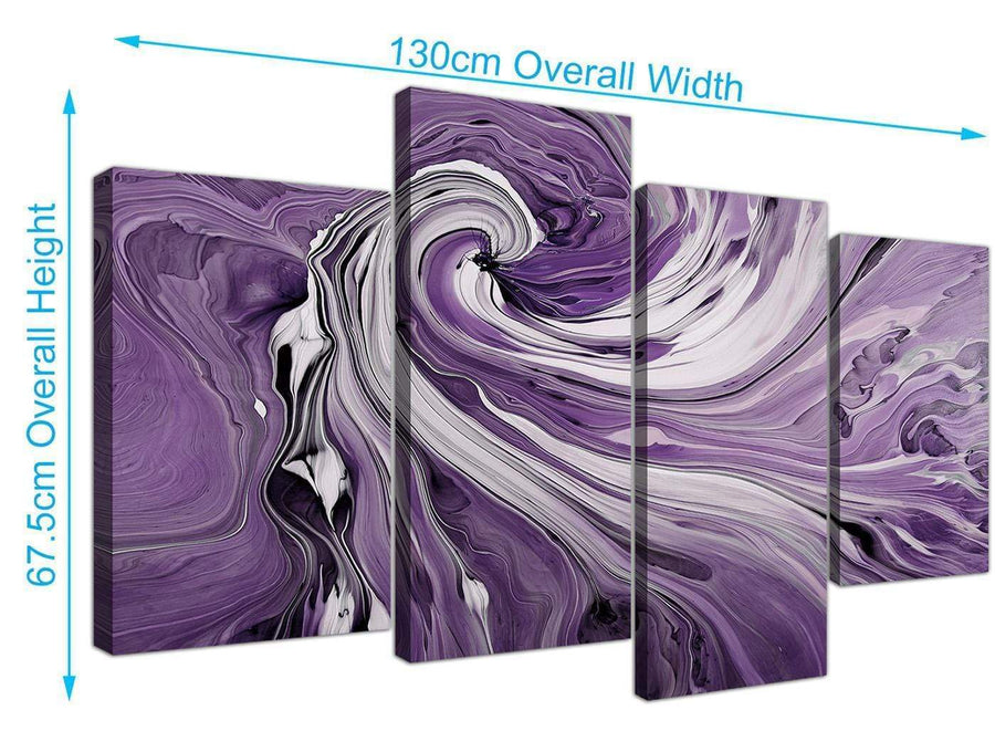 large purple and white spiral swirl canvas wall art purple 4270