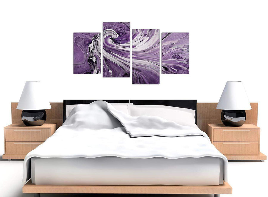 large purple purple and white spiral swirl canvas pictures 4270