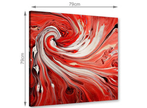 large wall art abstract swirl canvas art red 1s265l