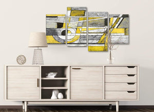 Large Yellow Grey Painting Abstract Bedroom Canvas Wall Art Decor - 4400 - 130cm Set of Prints