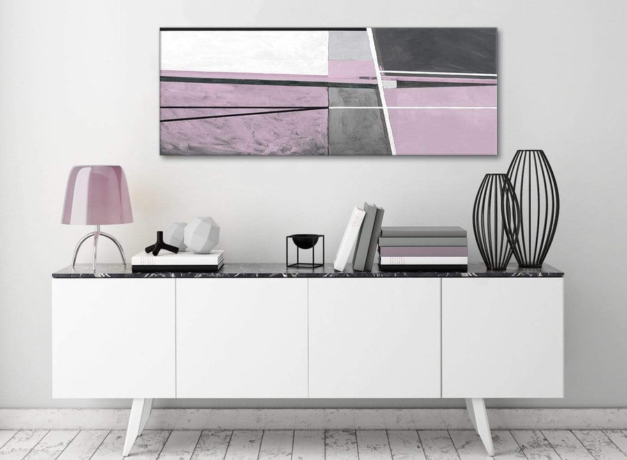 Lilac Grey Painting Living Room Canvas Wall Art Accessories - Abstract 1395 - 120cm Print